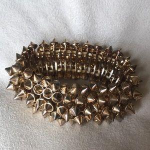Gold studded bracelet